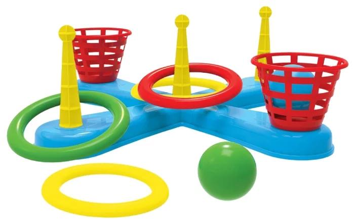 Набор для подвижных игр ТехноК «Кольцеброс с корзинами и шариками»
