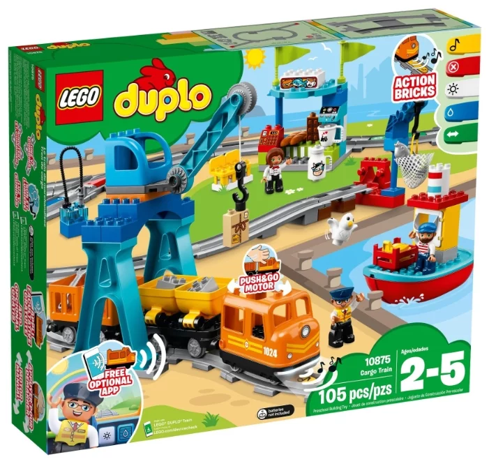 Электромеханический конструктор LEGO DUPLO «Грузовой поезд»