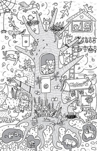 Раскраска Globen «Жизнь на дереве»