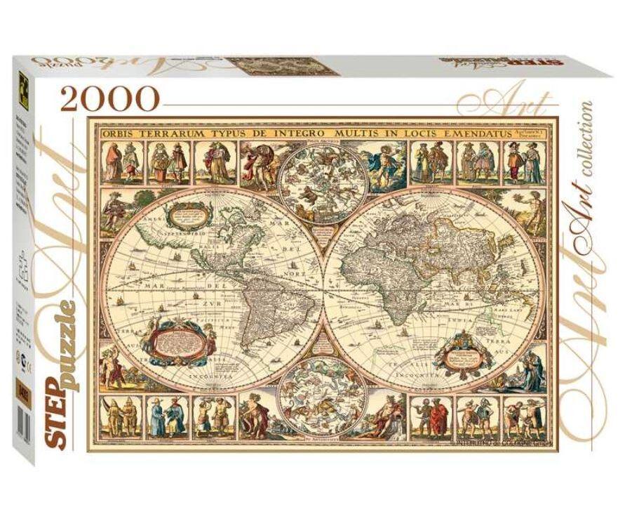 Пазл Step Puzzle «Историческая карта мира» (84003)