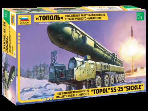 Сборная модель ZVEZDA «Тополь» 5003