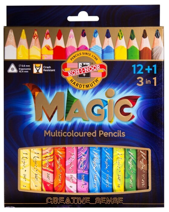 Карандаши с многоцветным грифелем KOH-I-NOOR Magic 3408013001KS