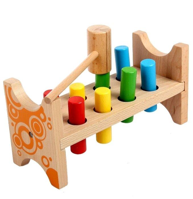 Стучалка, Мир деревянных игрушек «Гвозди-перевертыши»