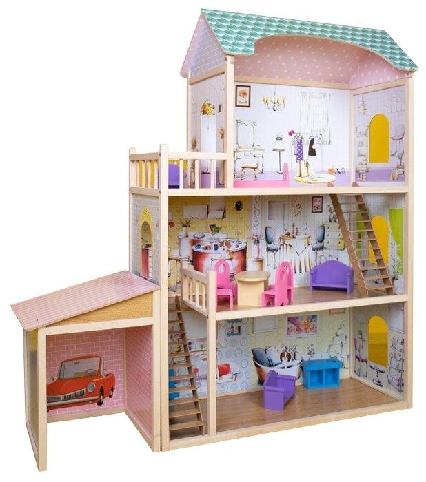 Кукольный домик Алина с гаражом SunnyWoods