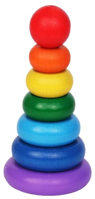 Пирамидка «Семицветик» Краснокамская игрушка
