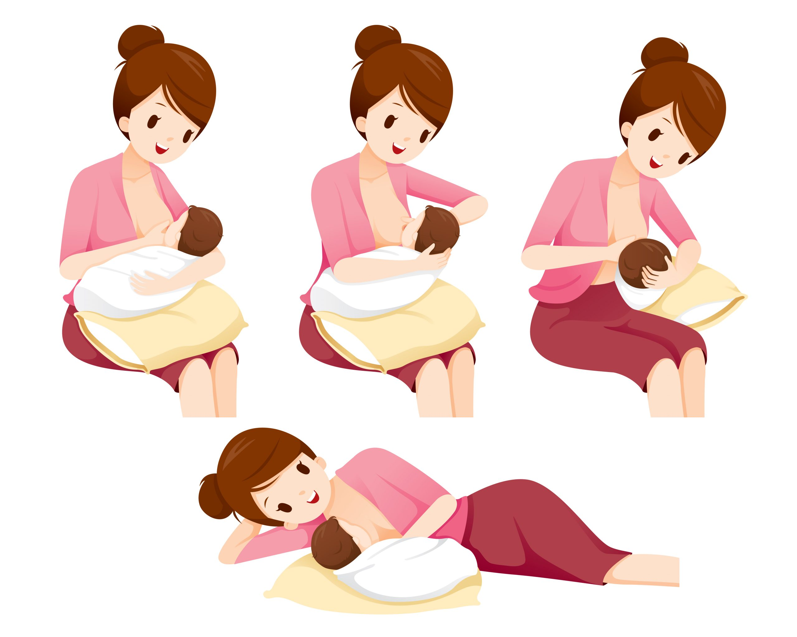 11 самых удобных поз для кормления грудничка